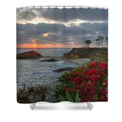Treasure Island Beach Shoreline Shower Curtain by Eddie Yerkish