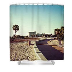 Shower Curtain featuring the photograph Treasure Island Beach Trail by Joel Witmeyer
