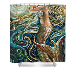 Treasure Mermaid Shower Curtain