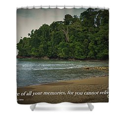 Treasure Your Memories Shower Curtain by Pamela Blizzard