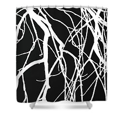 Tree Abstract Bw Shower Curtain