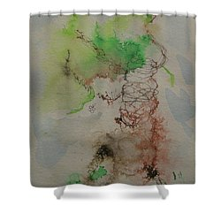 Shower Curtain featuring the drawing Tree by AJ Brown