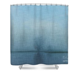 Tree Among Waters Shower Curtain
