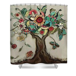 Tree And Plenty Shower Curtain