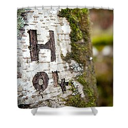 Tree Bark Graffiti - H 04 Shower Curtain
