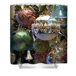 Tree Baubles Shower Curtain