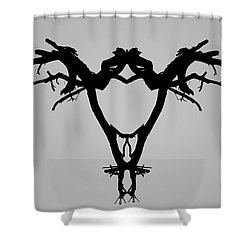 Shower Curtain featuring the photograph Tree Bird I Bw by David Gordon