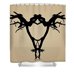 Shower Curtain featuring the photograph Tree Bird Toned by David Gordon