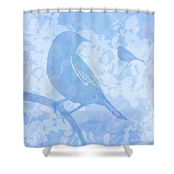 Tree Birds I Shower Curtain