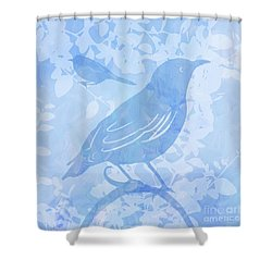 Tree Birds II Shower Curtain