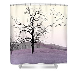 Tree Change Shower Curtain by Holly Kempe