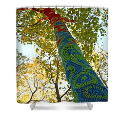 Tree Crochet Shower Curtain by  Newwwman