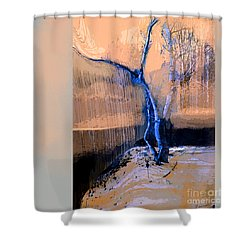 Tree Dancing On The Edge Shower Curtain