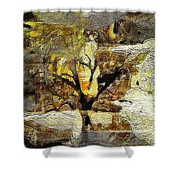 Tree Deconstructed 3 Shower Curtain by Lynda Payton