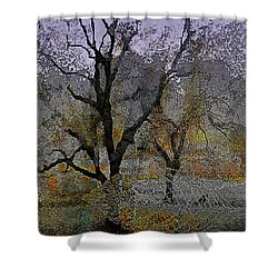 Tree Deconstructed 6 Shower Curtain by Lynda Payton