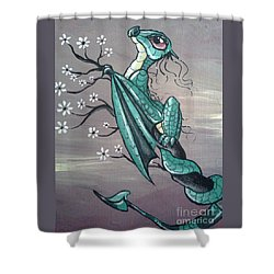 Tree Dragon II Shower Curtain