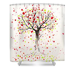 Tree Explosion Shower Curtain