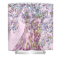Shower Curtain featuring the digital art Tree Fancy by Katy Breen