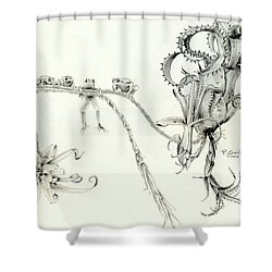 Tree Frog Hangout Shower Curtain