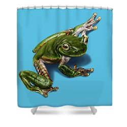 Tree Frog  Shower Curtain by Owen Bell