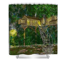 Tree House #10 Shower Curtain by Jim Hubbard