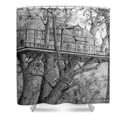 Tree House #4 Shower Curtain by Jim Hubbard