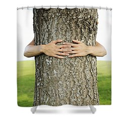 Tree Hugger 1 Shower Curtain by Brandon Tabiolo - Printscapes