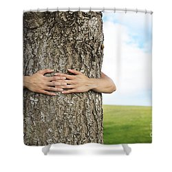 Tree Hugger 2 Shower Curtain by Brandon Tabiolo - Printscapes