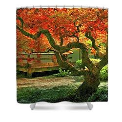 Tree, Japanese Garden Shower Curtain