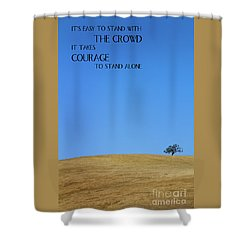 Tree Of Courage Shower Curtain