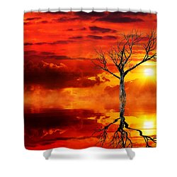 Tree Of Destruction Shower Curtain by Gabriella Weninger - David