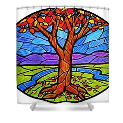 Tree Of Grace - Autumn Shower Curtain
