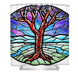 Tree Of Grace - Winter Shower Curtain