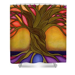 Shower Curtain featuring the painting Tree Of Life by Carla Bank