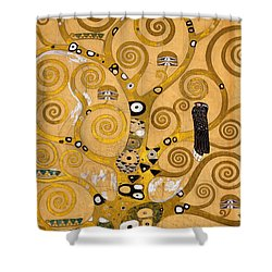 Tree Of Life Shower Curtain by Gustav Klimt
