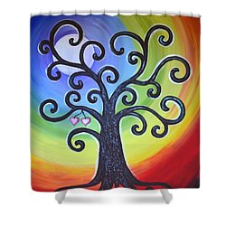 Tree Of Life Love And Togetherness Shower Curtain