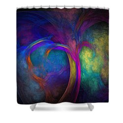 Tree Of Life Shower Curtain by Lyle Hatch