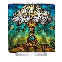 Tree Of Life Shower Curtain by Mandie Manzano