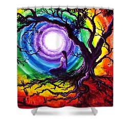Tree Of Life Meditation Shower Curtain by Laura Iverson