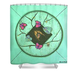 Shower Curtain featuring the painting Tree Of Life by Mini Arora