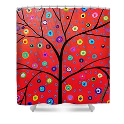 Tree Of Life Painting Shower Curtain by Pristine Cartera Turkus