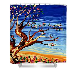 Tree Of Life Shower Curtain by Robin Monroe