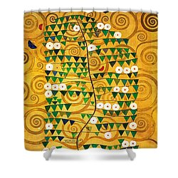 Tree Of Life Stoclet Frieze Shower Curtain by Gustav Klimt