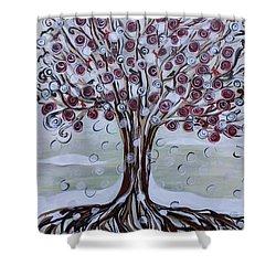 Tree Of Life - Winter Shower Curtain
