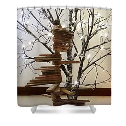 Tree Of Lights Shower Curtain