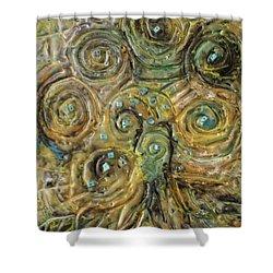 Tree Of Swirls Shower Curtain