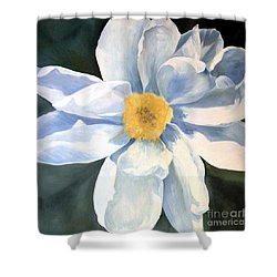 Shower Curtain featuring the painting Tree Peony by Laurie Rohner