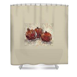 Three Pomegranates Shower Curtain
