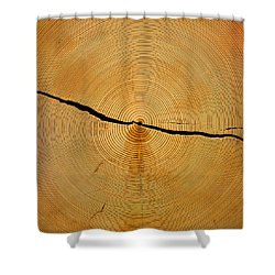 Tree Rings Shower Curtain