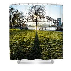 Tree Shadow Shower Curtain